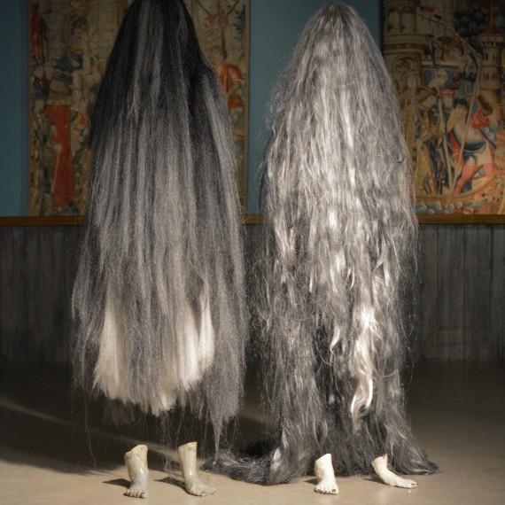 sculptures cheveux poils céramique ladie godiva